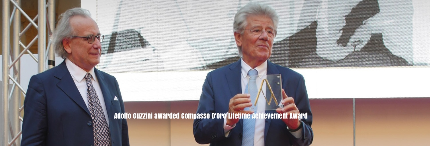Adolfo iGuzzini has been awarded the Compasso D'Oro in recognition of his promotion of ground breaking design- prestigious because this is a design award, not a lighting award