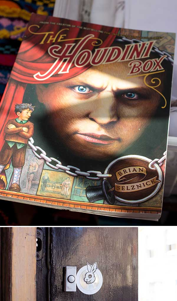 Brian Selznick (author of Hugo) created this story in 1991. A cool find on a market stall. Can you guess where the rabbit doorbell is from?