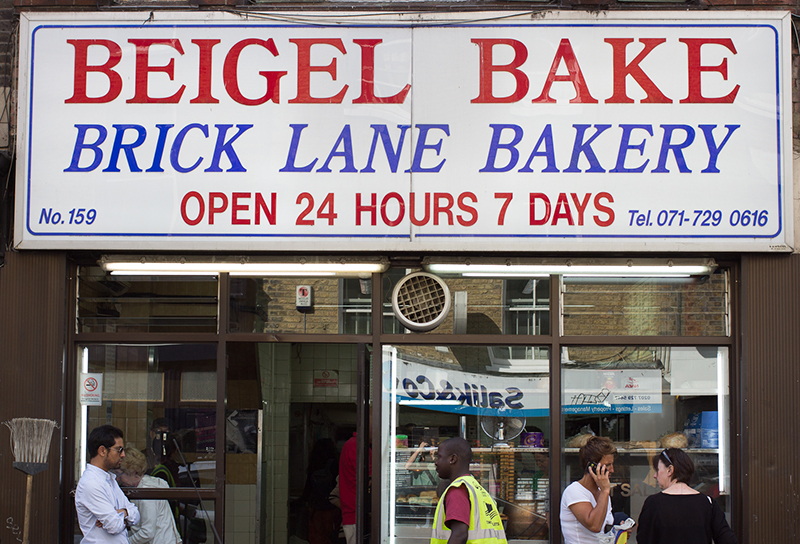 The Brick Lane Beigel Bake has been serving round doughy bread since 1977! London is not a 24hr city, but this place is.