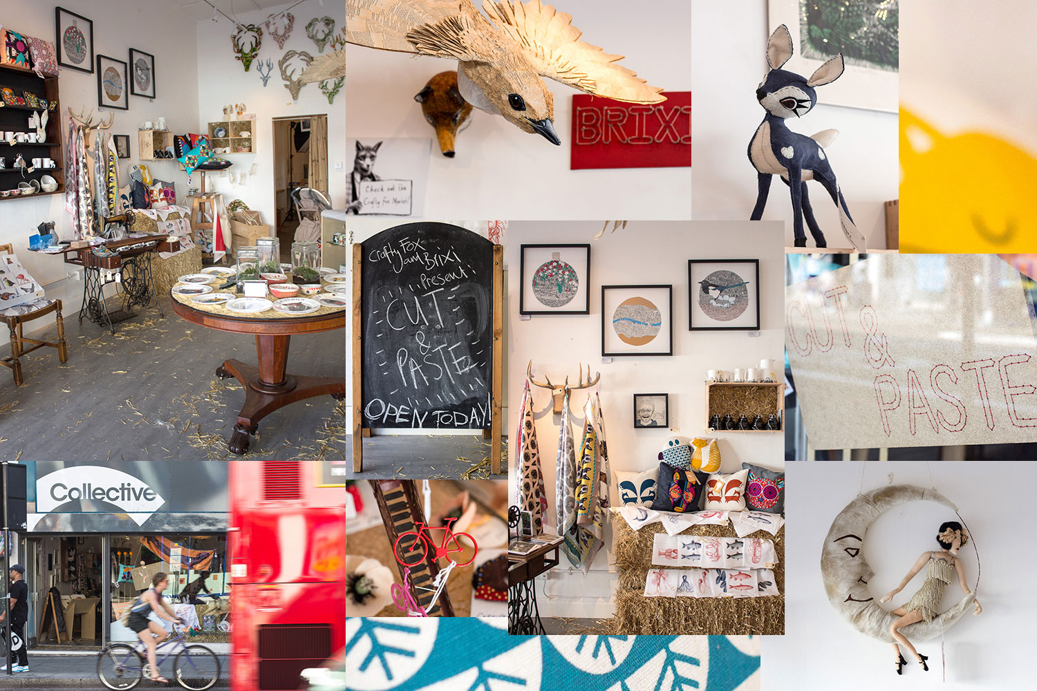 A popup shop filled with crafty delights from Crafty Fox and Brixi