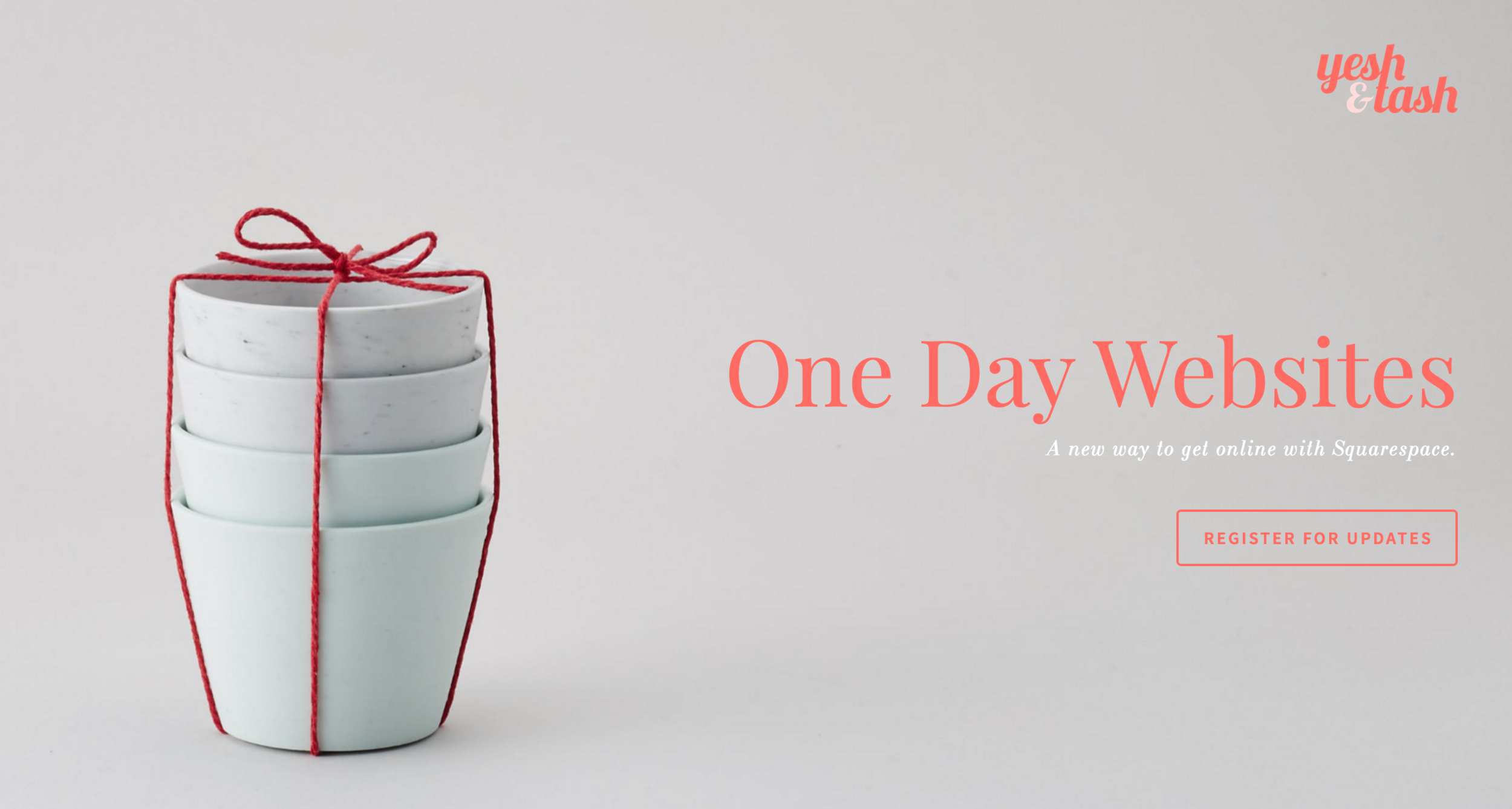 One Day Websites from Yesh&Tash