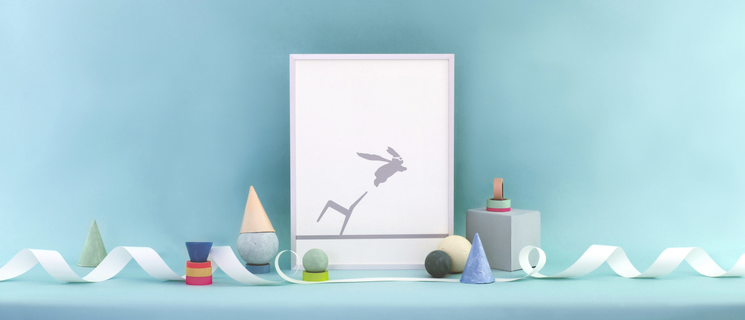 Super Hero Rabbit |Limited Edition print for West Elm. Styling by Annabel Lam | Shot at Studio Four, Stoke Newington.