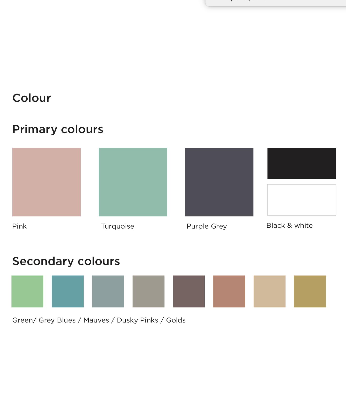 Build your colour pallet