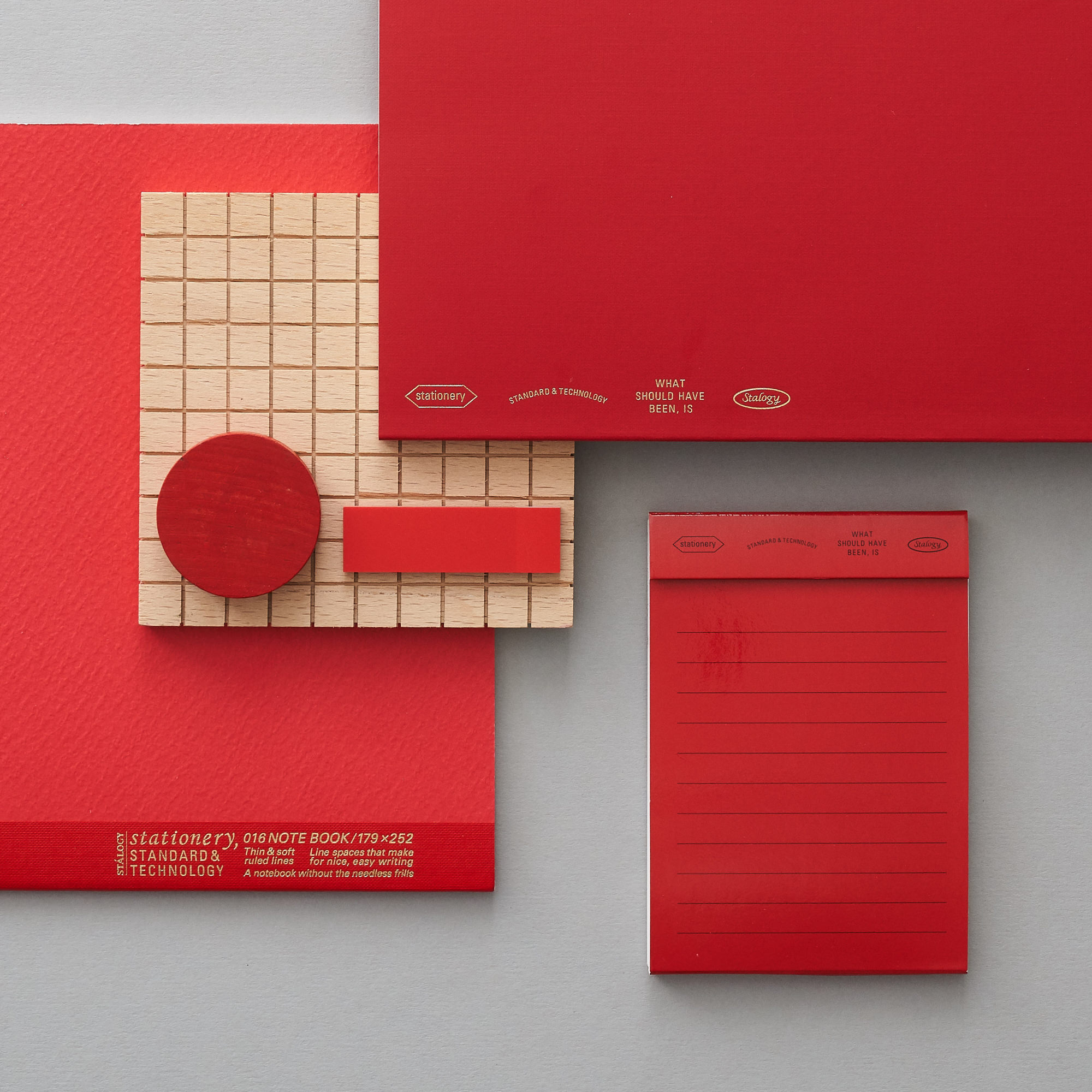 Stalogy Stationery Red layout