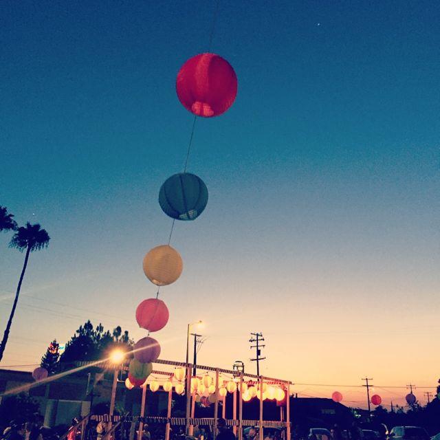 Image of lanterns,   Obon Festival  , Fowler, CA.