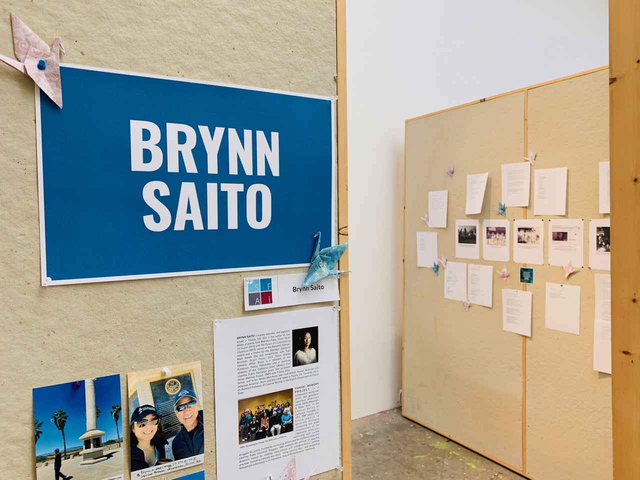 Process notes, poems, and photographs in my residency studio space at the Santa Fe Art Institute.