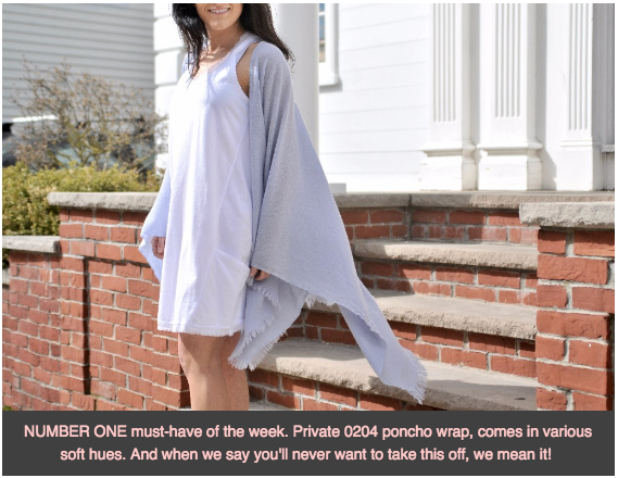 private 0204 poncho wrap