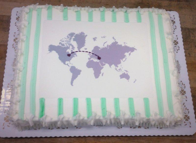 Adoption Celebration Sheet Cake