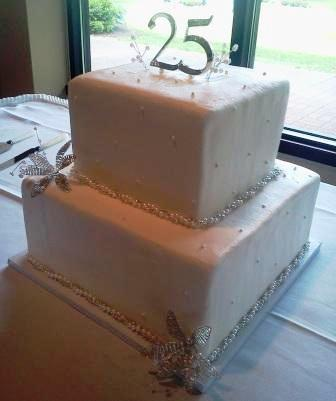 Square Anniversary Party Cake