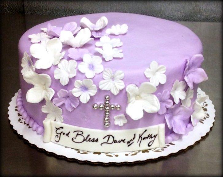 Anniversary Cake in Lavender