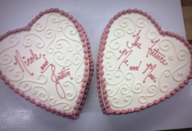 Heart Shaped Engagement Party Cakes