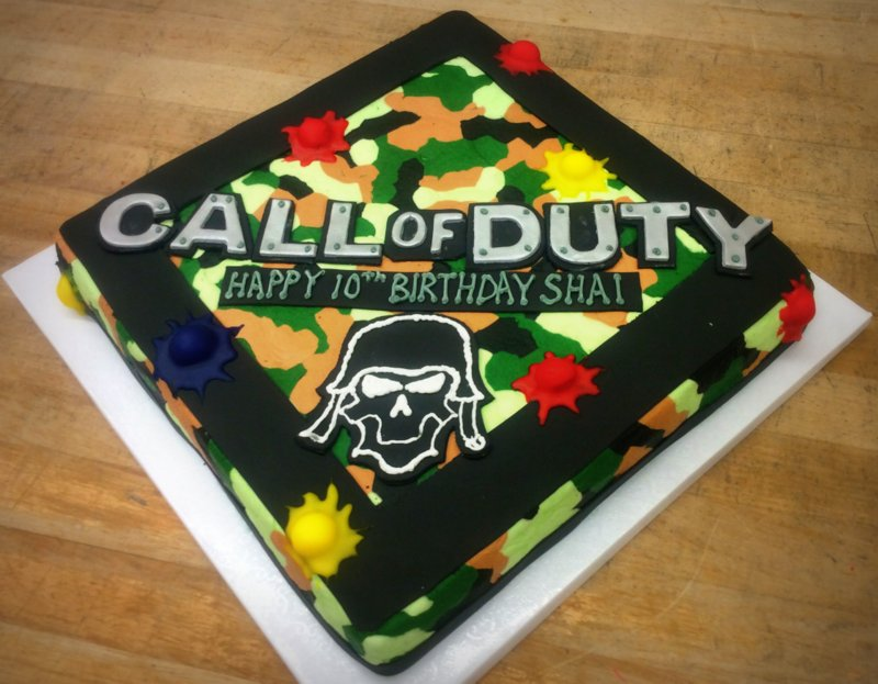 Call of Duty Specialty Cake
