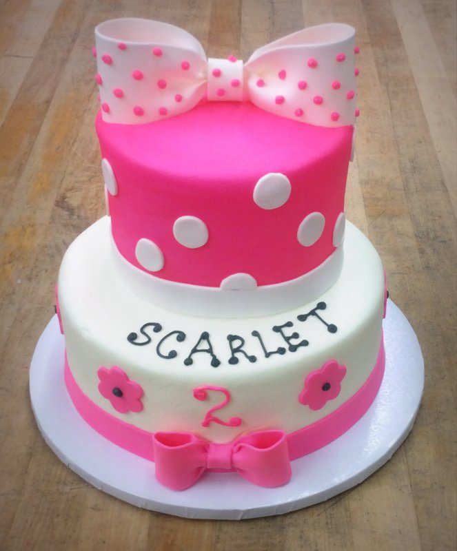 Pink Party Cake with Big Bow