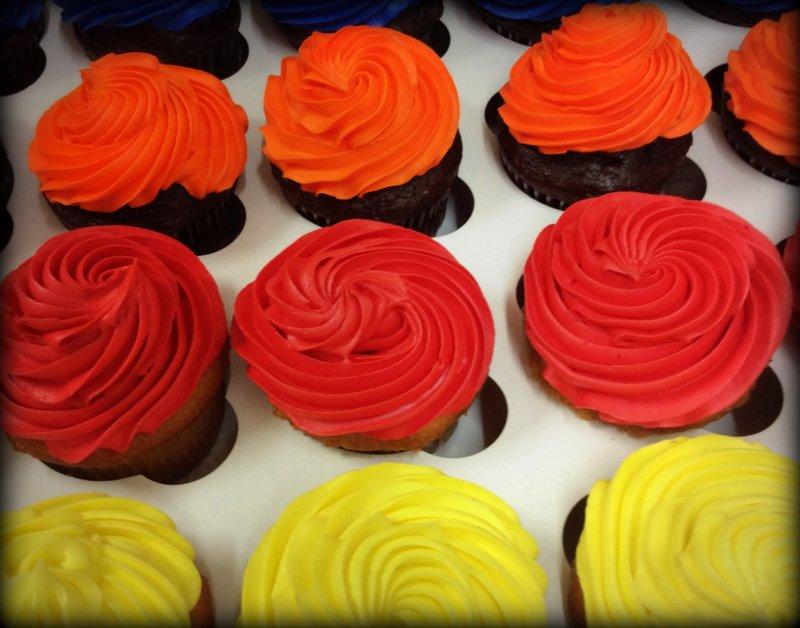 Star Tip Iced Cupcakes