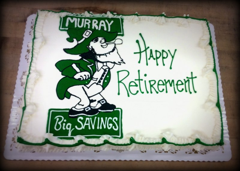 Retirement Sheet Cake with Company Logo