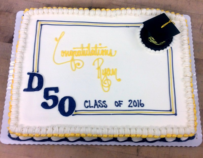 Graduation Sheet Cake with Fancy Borders