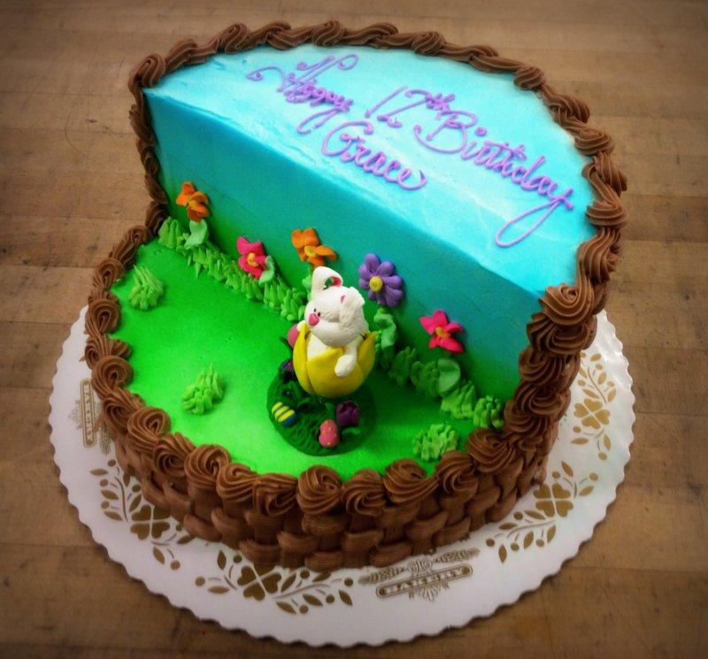 Easter Basket Carved Cake