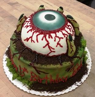Halloween Dirty Eye Ball Cake