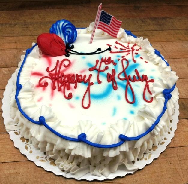 Fourth of July Round Cake