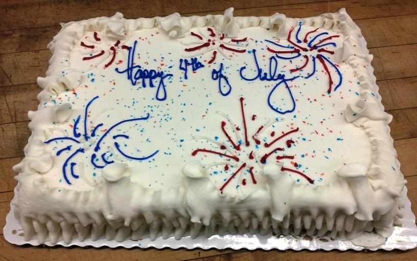 Fourth of July Sheet Cake