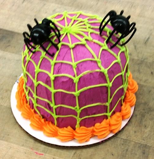 Halloween Petite Purple Spiderweb Cake