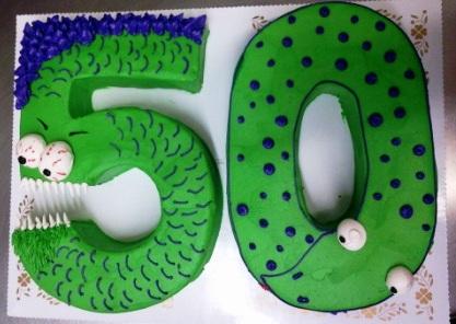Shaped 50 Monster Cake
