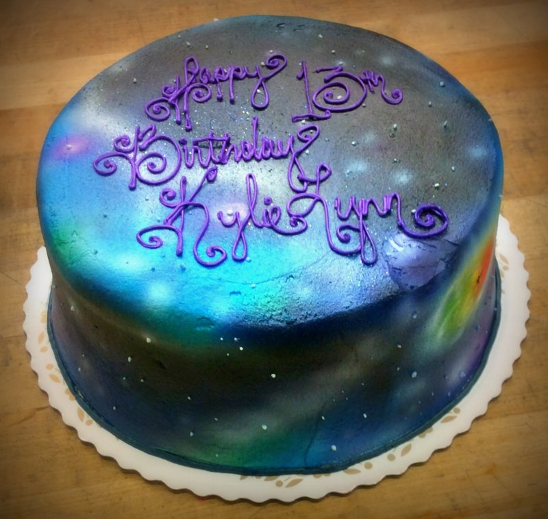 Airbrushed Space Cake