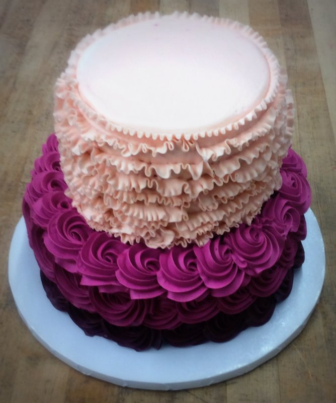 Ruffles and Rosettes Party Cake