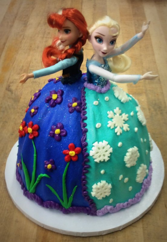 Frozen Sisters Dress Cake