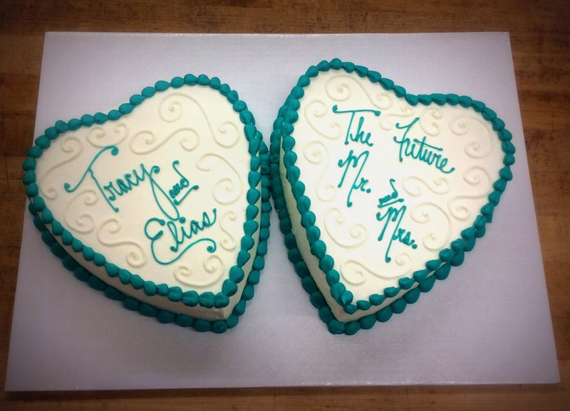 Heart Shaped Bridal Shower Cakes