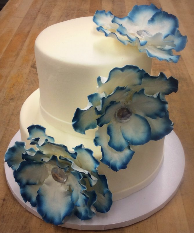 Party Cake with Flowers and Gems