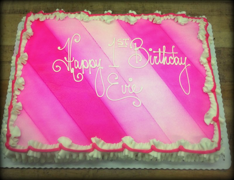 Sheet Cake with Airbrush Stripes
