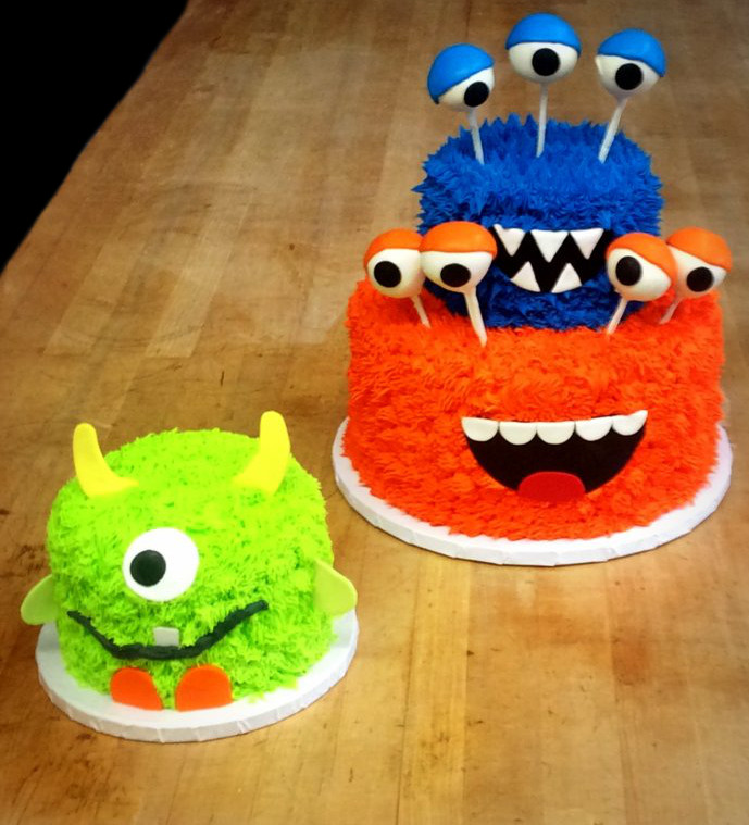 Monster Party Cake and Smash Cake