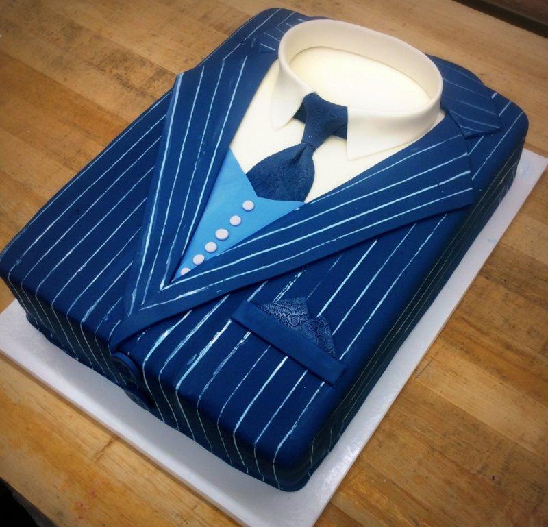Pin Stripe Suit Cake