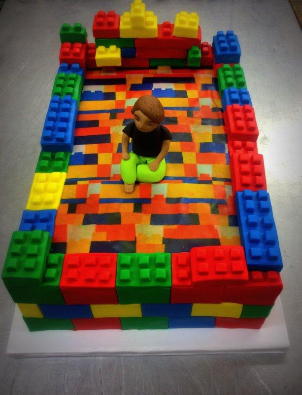 Custom Lego Bed Cake