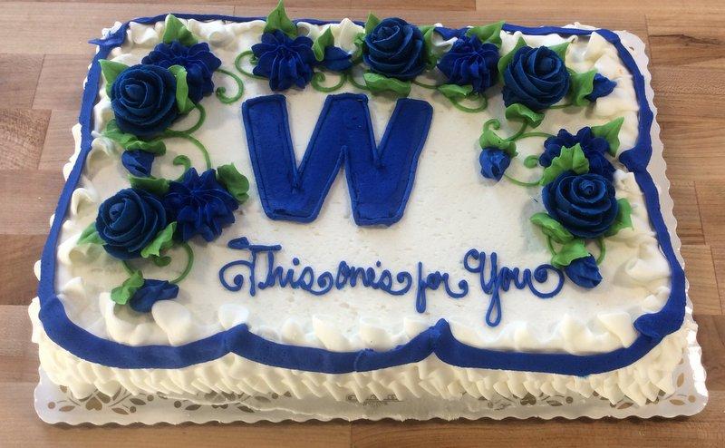 Cubs Win Sheet Cake