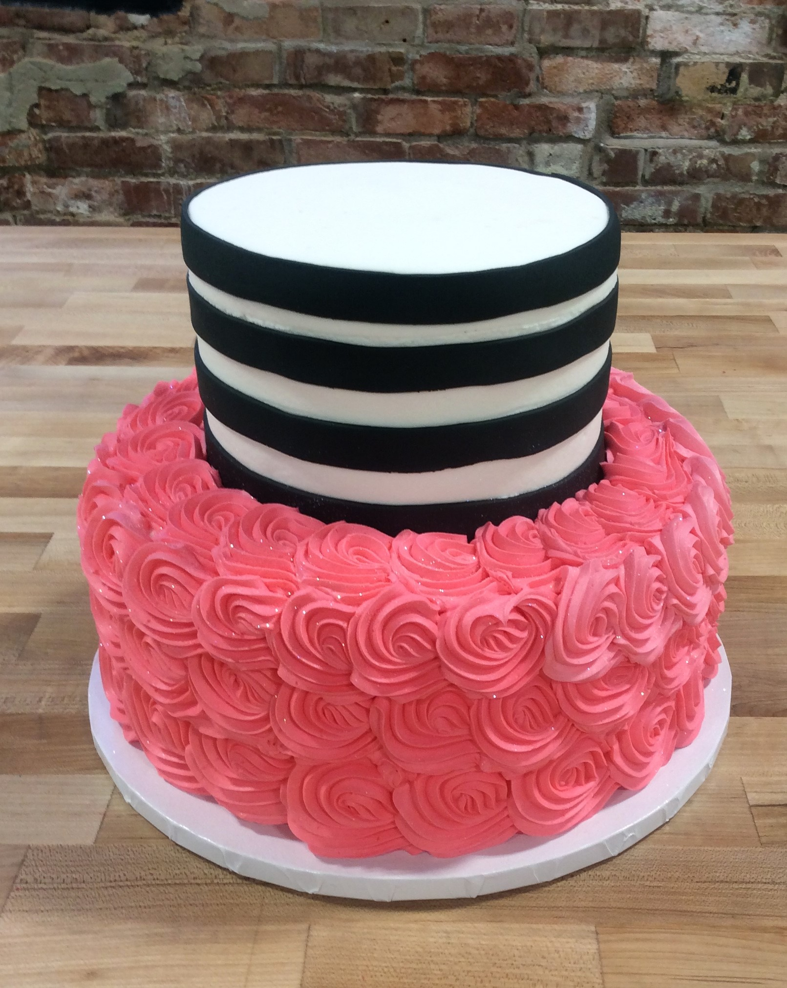 Pink and Black Party Cake