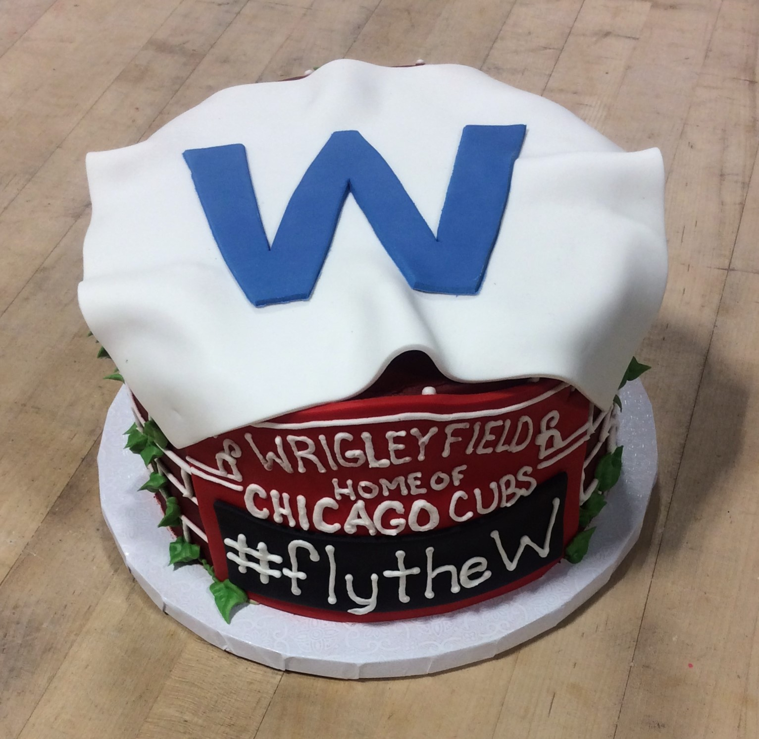 Fly the W Cubs Cake