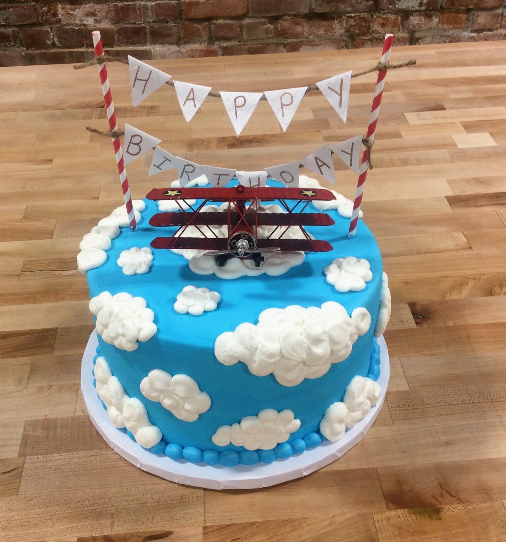 Cloudy Birthday Cake