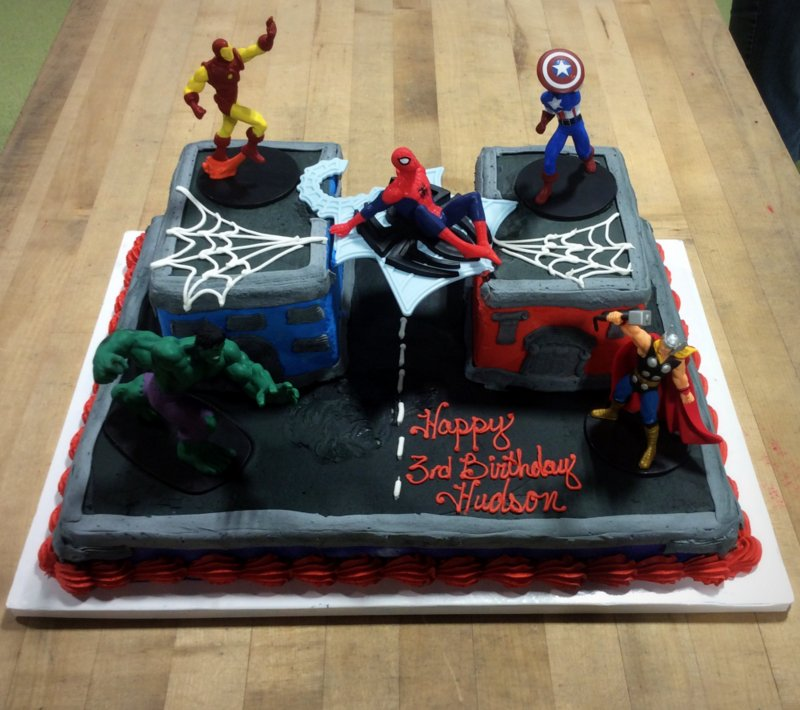 Marvel Super Heroes Specialty Cake