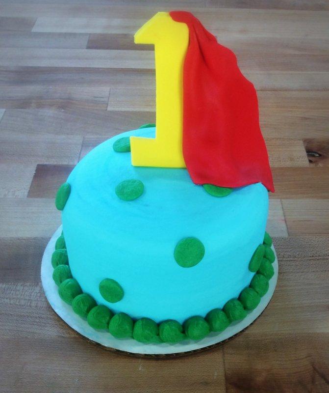 First Birthday Superhero Smash Cake
