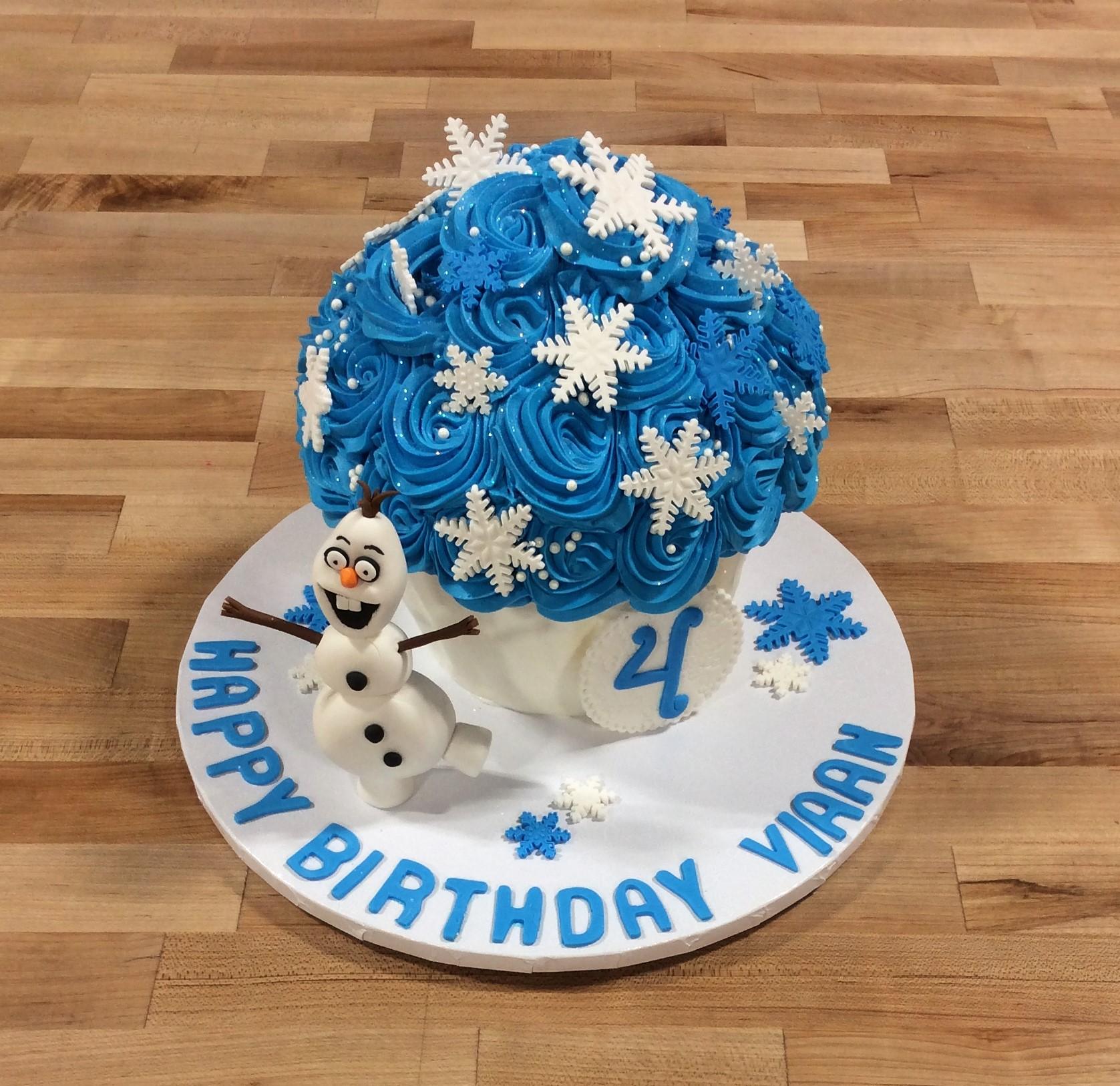 Giant Frozen Cupcake