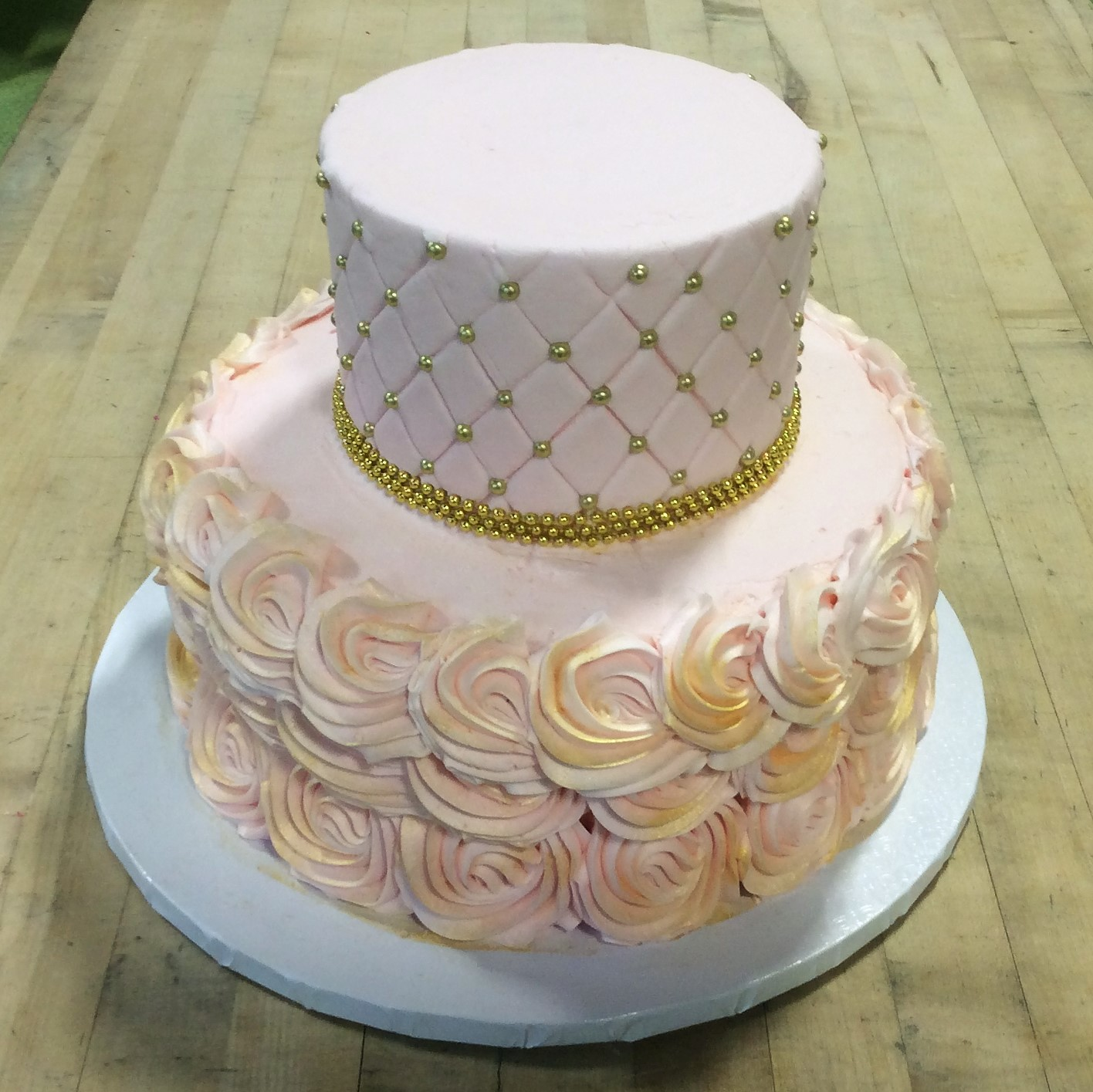 Gold and Pink Party Cake
