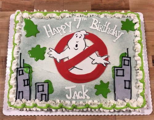 Ghostbusters Sheet Cake