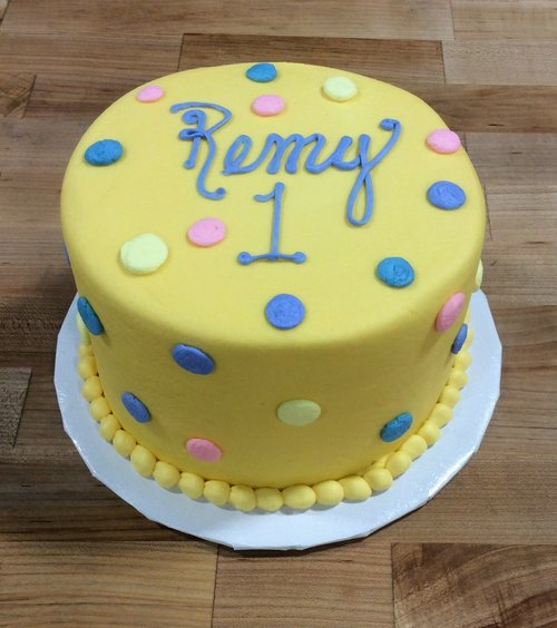 Smash Cake with Polka Dots