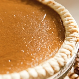 Pumpkin Pie - available from early Fall until Christmas