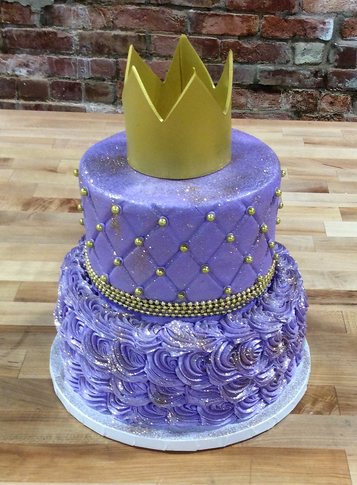 Purple and Gold Royal Party Cake