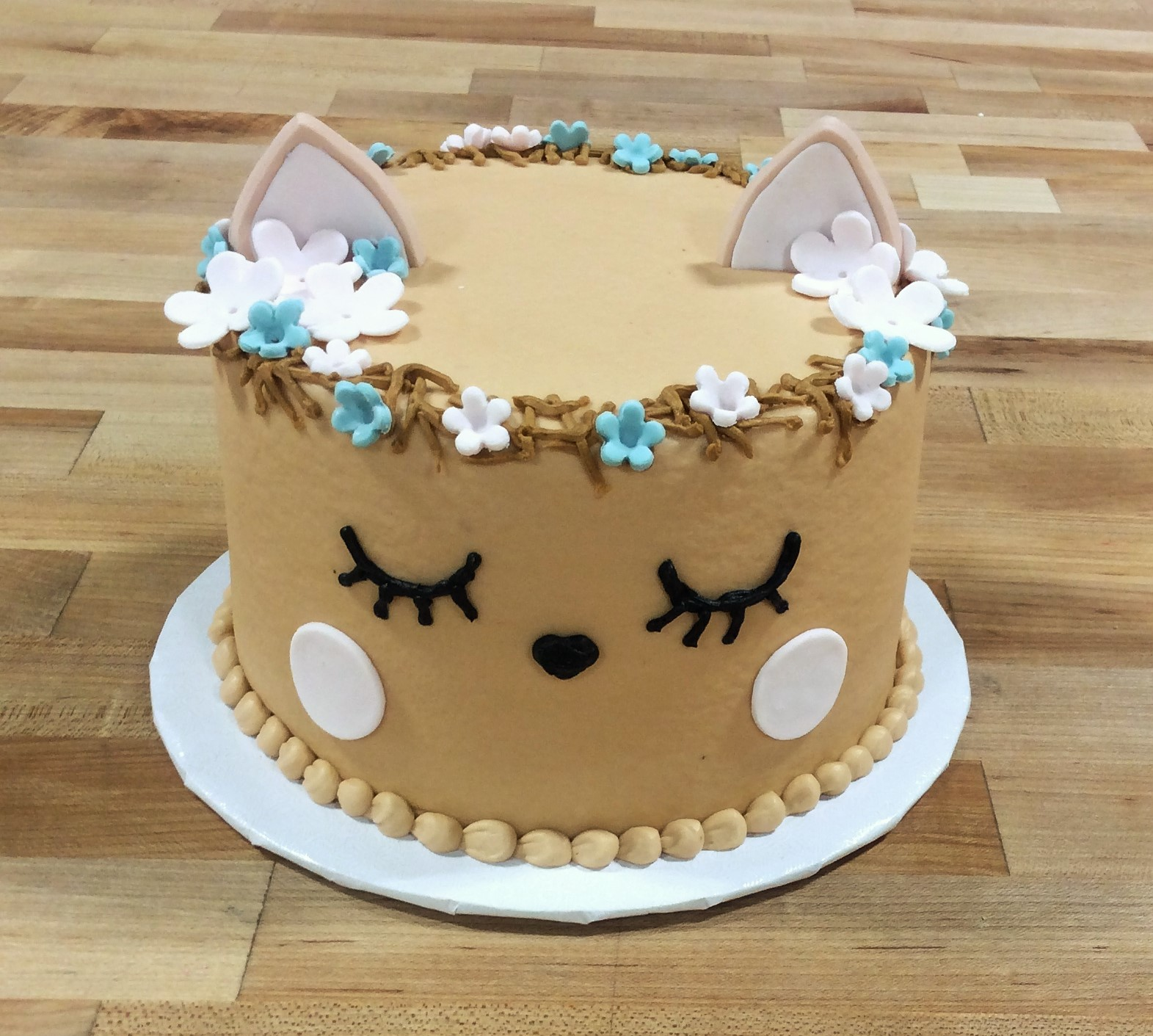 Little Deer Round Cake with Cookie Ears