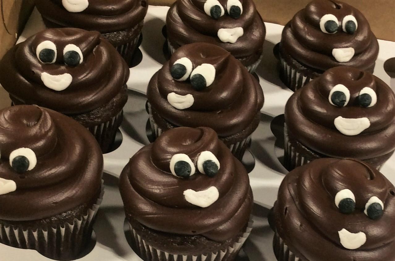 Chocolate Ice Cream Emoji Cupcakes