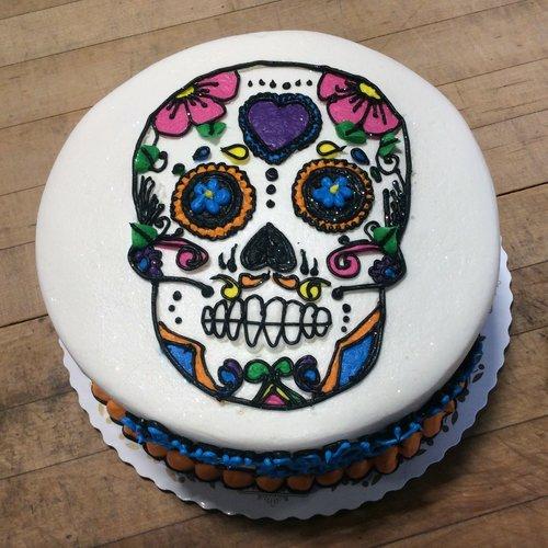 Sugar Skull Birthday Cake — Trefzger's Bakery